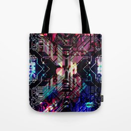 circuit board shadow Tote Bag