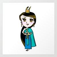 Traditional Thai girl Art Print