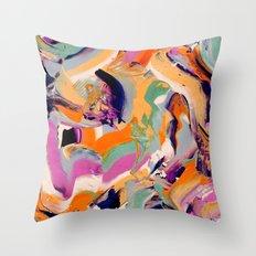 Sara - Abstract Brushstrokes Throw Pillow