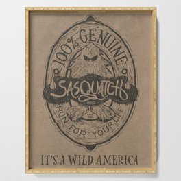 It's a Wild America – Sasquatch Brand Poster Serving Tray