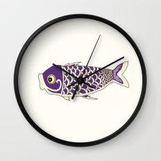 Koi Lavender Wall Clock