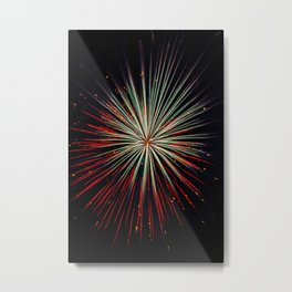 Twin Starburst Metal Print