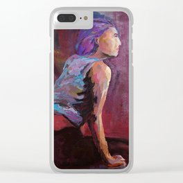 Portrait of no one Clear iPhone Case