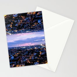 Mirrored City Stationery Cards