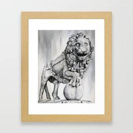 Medici Lion Painting Framed Art Print