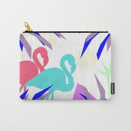 Flamingo Jungle Blues Carry-All Pouch