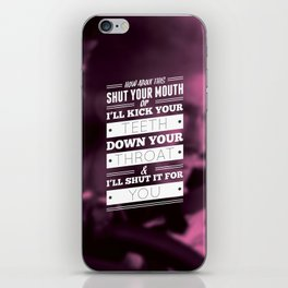 """""""DRIVE"""" Typography Poster iPhone Skin"""