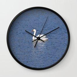 The white Swan Wall Clock