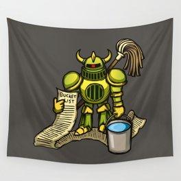 Bucket Knight Wall Tapestry