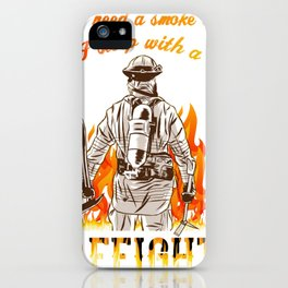 I Sleep With A Firefighter Gift for Firefighter Girlfriend iPhone Case