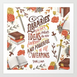 LIBRARIES WERE FULL OF IDEAS Art Print