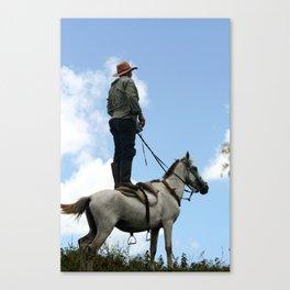 Man and Animal Canvas Print