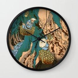 Mushroom Gatherers Wall Clock