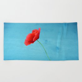 poppy love Beach Towel