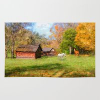 tennessee Area & Throw Rugs featuring Horse Farm in Tennessee by Mary Timman