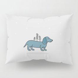 Blue dog Pillow Sham
