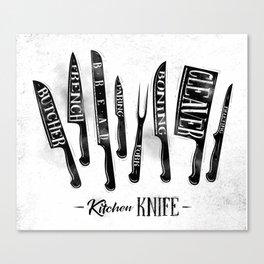 Kitchen knife Canvas Print