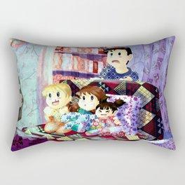 watching telly Rectangular Pillow