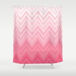 Fading Pink Chevron Shower Curtain