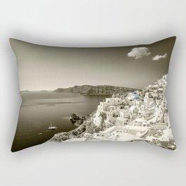 Santorini Seascape in sepia Rectangular Pillow