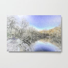 The Winters Day Pond Metal Print