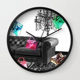 Handbag Party Wall Clock