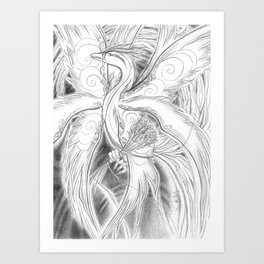 Phoenix Flight Art Print