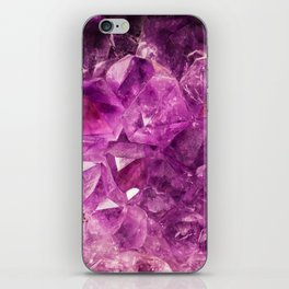 Amethyst Crystal Cave iPhone Skin