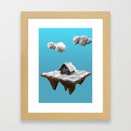 lowpoly winter Framed Art Print