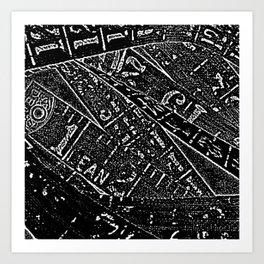 Black & White By Numbers Art Print