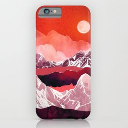 Scarlet Glow. Vintage nature illustration art. iPhone Case