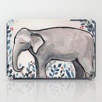 baby elephant iPad Cases featuring Baby Elephant by Nikolazza