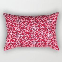 Candy cane flower pattern 2a Rectangular Pillow