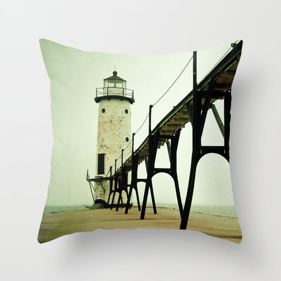 Manistee Light Throw Pillow