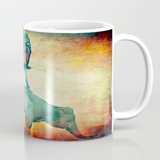 The elephant and the butterfly Mug