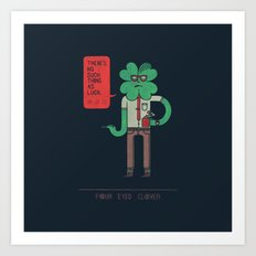 Four Eyed Clover Art Print