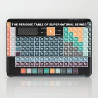 periodic table iPad Cases featuring Periodic Table of Supernatural Beings by Sarah