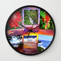 hawaii Wall Clocks featuring Hawaii by Art-Motiva