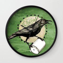 Crows Love CAW-FEE Wall Clock