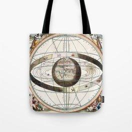 Keller's Harmonia Macrocosmica - Scenography of Ptolemaic Cosmography 1661 Tote Bag