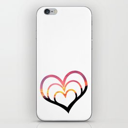 Mountains in Love I iPhone Skin