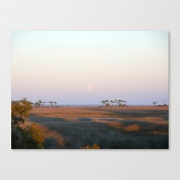 Moonrise on the Salt Marsh Canvas Print