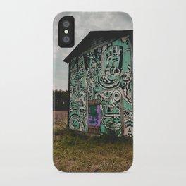 Blue Graffiti Barn iPhone Case