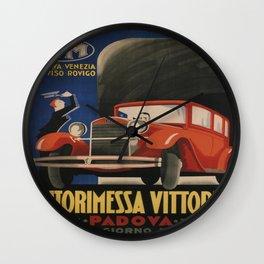 Vintage poster - Autorimessa Vittoria Wall Clock