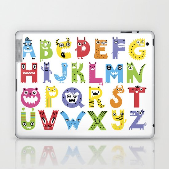 Alphabet Monsters Laptop & iPad Skin