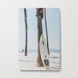 Surfboard Beach Boho Vibes Metal Print