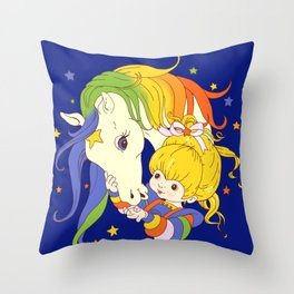 Rainbow Brite and Starlite Throw Pillow