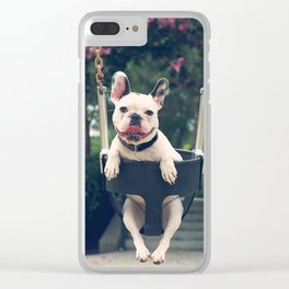 Frenchie Swings Clear iPhone Case