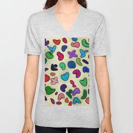 Seamless Colorful Geometric Pattern XXIX Unisex V-Neck