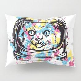 Astronaut Cat Pillow Sham